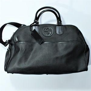 Gucci Duffel Travel Weekend Bag Interlocking G